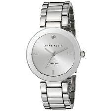Anne Klein 1363SVSV Lady's Silver Dial SS Bracelet Diamond Watch