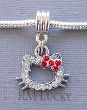ONE Pendant Rhinestone Hello Kitty for European Charm Bracelet and Necklace C114