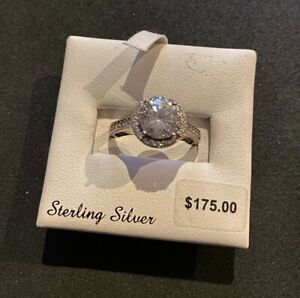Emotions Sterling Silver Frame Ring size 7 - Made with Swarovski Zirconia (White