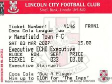 Ticket - Lincoln City v Mansfield Town 03.03.07