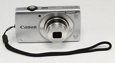 Canon PowerShot A2500 16.0MP Digital Camera Silver w/ Chgr,Batt, Case USA Seller