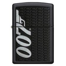Zippo James Bond 007 Logo Windproof Lighter + Gift Box - Black Matte - 29718