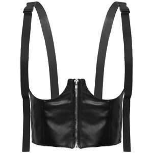Leather Underbust Corset Top Women Waist Training Corsets Bustier Body Shapewear