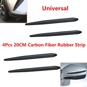 4X Car Carbon Fiber Anti-rub Strip Bumper Body Corner Protector Guard Universal