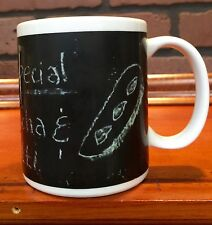 Chalkboard Price List Sign Coffee Mug - Mocha and Biscotti HH Used Stock 403