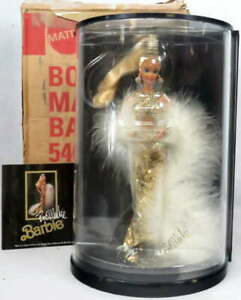 1990 Bob Mackie Gold Barbie Doll Display Case No. 5405 Illustration Shipping Box
