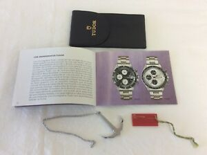 Tudor Vintage 1991 Black Leather Pouch + Booklet + Anchor + Tag + FREE SHIPPING