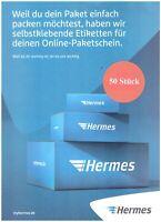 50 Stück Hermes Aufkleber Versandetiketten Klebeetiketten Paket Etiketten DIN A4