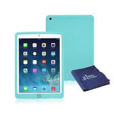 Funda a prueba de impactos de goma de silicona para iPad 2 + Paño De Microfibra Luz Air Verde