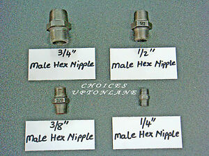 BLACK MALLEABLE IRON FITTING **MALE EQUAL HEX NIPPLE** BSP IN VARIOUS SIZES