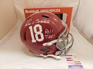 PATRICK SURTAIN II Signed Inscribed Alabama Crimson Tide Full Size Helmet JSA