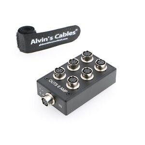 4 polige Hirose Splitter Box für Sound Devices 688 633 Zoom F8 HR10A-7R-4S