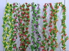 230cm Blumenranke Ranke Rosen Seidenblumen Kunstblumen Blumen Girland Deko NEU