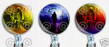 Halloween Badge Reel Retractable ID Name Card Holder Angel of Death Grim Reaper