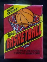 🔥📈 (1)1981 TOPPS NBA 🏀 FACTORY SEALED PACK 13 Cards & Gum MAGIC, BIRD 2ND YR