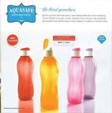 TUPPERWARE FLIP TOP WATER BOTTLE  1 LITRE (1000ml) Bottle - 1 Ltr -(4Pc)