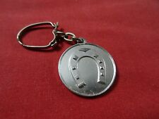VINTAGE METAL  KEYCHAIN ALUMINUM horseshoe confiserie outsider tourcoing vtg