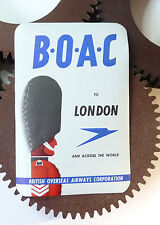 Etiquette Bagage BOAC Airlines Label Luggage Airlines Labels Advertising