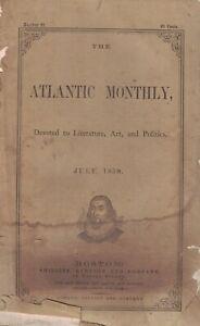 1859 Atlantic Monthly May - Julia Ward Howe; O Holmes; Harriet B Stowe; Cuba