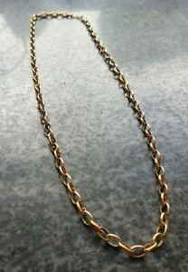 14CT STUNNING 18 INCH ROLLED GOLD BELCHER CHAIN 6g