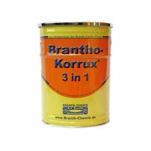 Brantho Korrux 3in1 Lack Rostschutzfarbe Grundierung Metall 5 Liter RAL2011