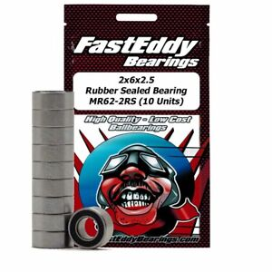 2x6x2.5 Rubber Sealed Bearing MR62-2RS (10 Units)