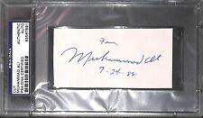 Muhammad Ali Signed 2x4 Cut Paper PSA/DNA COA Boxing Autograph vs George Foreman