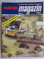 märklin magazin - Die Zeitschrift für Modell-Eisenbahner - Ausgabe 1/84