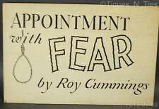1950s Appointment with Fear Classic BBC Radio Horror Promo Sign Cunningham  (GG)