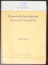 Ramesside Inscriptions: Historical & Biographical Volume II Egyptian HC Egypt