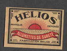 Ancienne étiquette allumettes Belgique  V313 Helios Soleil