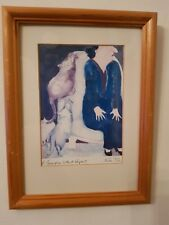 """Vintage Erika Oller Signed Print """"A Generation without Respect"""""""