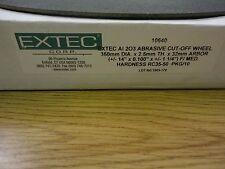 Box (10) Extec 10640 AI 203 Abrasive Cut-off Wheel 350MM Dia x 2.5MM Thick