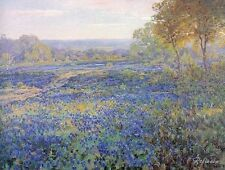 Custom Julian Onderdonk Oil Painting repro Fields of Bluebonnets