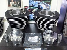 HARLEY TWIN CAM BIG BORE KIT 107 CP PISTON OEM CYLINDERS KIT BLACK  07 AND UP