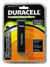 Duracell Du7169 Portable 2,600mah Powerbank Retail Packaging - Black
