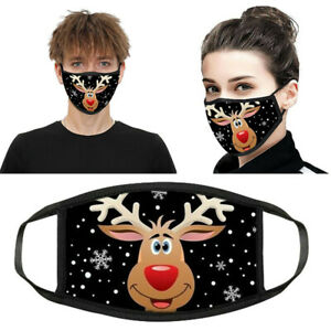 Christmas Print Protective Face Cover Mask Shield Washable Breathable & Reusable