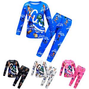 Kids Boys Girl Luca Alberto Long Sleeve T-shirt Pants Pyjamas Pjs Sets Nightwear