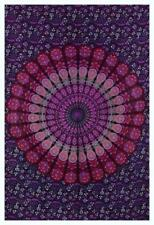 Peacock Mandala Wall Hanging Bohemian Twin Bedding Bedspread Throw Tapestries