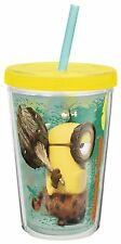 DESPICABLE ME CHILDREN MINIONS TUMBLER WITH STRAW & LID