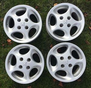 "Repainted Peugeot 106 1.6 GTI 14"" Alloy wheels 309 205 206 S16 Rallye VTS Saxo"