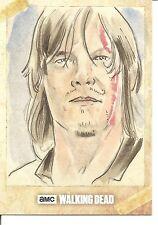Walking Dead Season 6 Daryl Sketch Trading Card by Alex Iniguez - One of a Kind