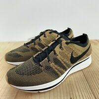 the best attitude cad24 67ac6 Nike Flyknit Trainer Golden Beige Size 11 Gold Black Mens Running Shoes