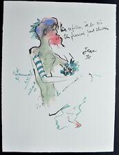 """Lithographie de JEAN COCTEAU    """" VINS , Filles """"   signée"""
