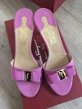 Salvatore Ferragamo Glory Agata Rose  Patent Leather Calf Size 9 NWB