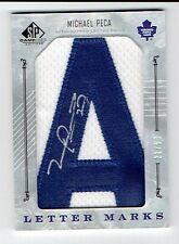 2006-07 06-07 SP Authentic Letter Marks Michael Mike Peca Autograph Auto 'A'