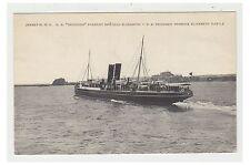 Jersey postcard - G.W.R, S.S Reindeer Passing Elizabeth Castle (A60)