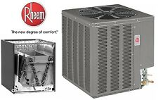 RHEEM 14 SEER 5TON CENTRAL AIR CONDITIONING CONDENSING UNIT AND EVAPORATOR 410A