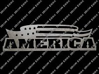 AMERICA -- Patriotic Metal Wall Art Sign Flag Stars & Stripes USA Plasma Cut Out