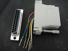 Printer DB25 Male to RJ45 CAT5e CAT5 JACK Network Connector Modular Adapter Plug